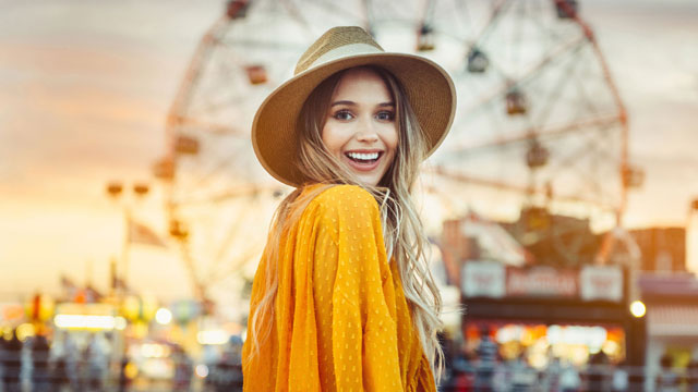 fun, carefree lifestyle image for model patient of new jersey plastic surgeon